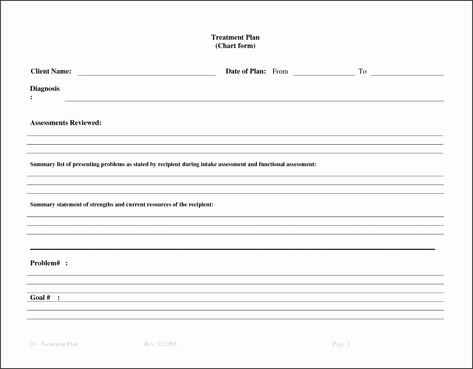 video treatment template - 7 counseling treatment plan template sampletemplatess