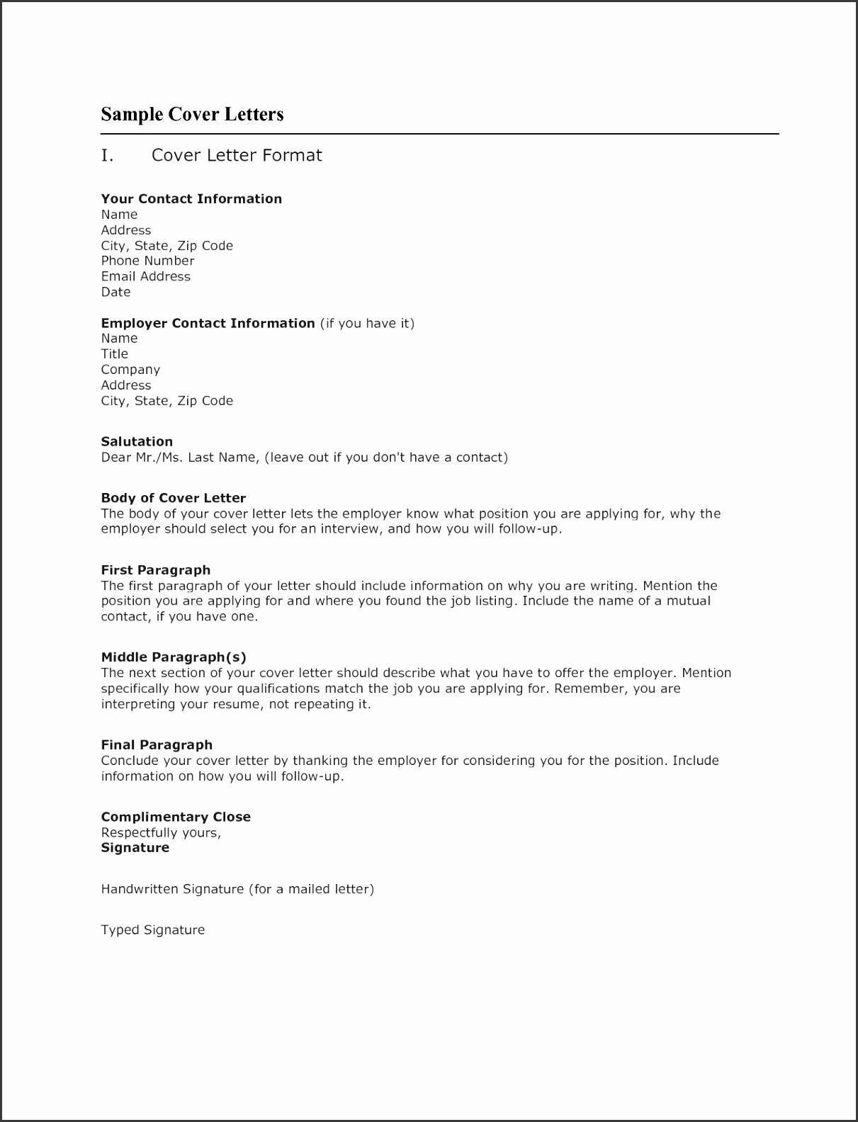 Application Cover Letter Template Resume Badak