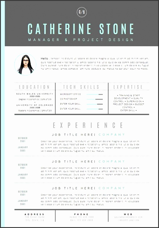 Resume Template CV Template Cover Letter for by…