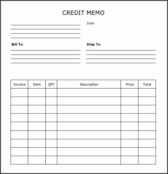 8 Credit Note Template - SampleTemplatess - SampleTemplatess
