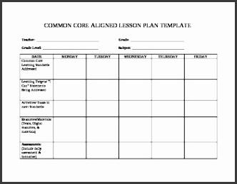 simple lesson plan template word original 1