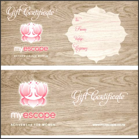 Miss Blossom Design™ Logo Branding and Graphic nd Web Design Boutique Custom Gift Certificate Gift Voucher znd Ac plishment Certificate Design