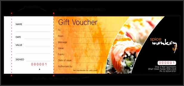 Extend your branding with a custom designed Gift Voucher