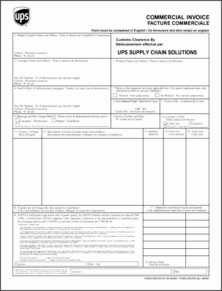 Customs Invoice Template and Ups Customs Invoice Invoice Template Ideas