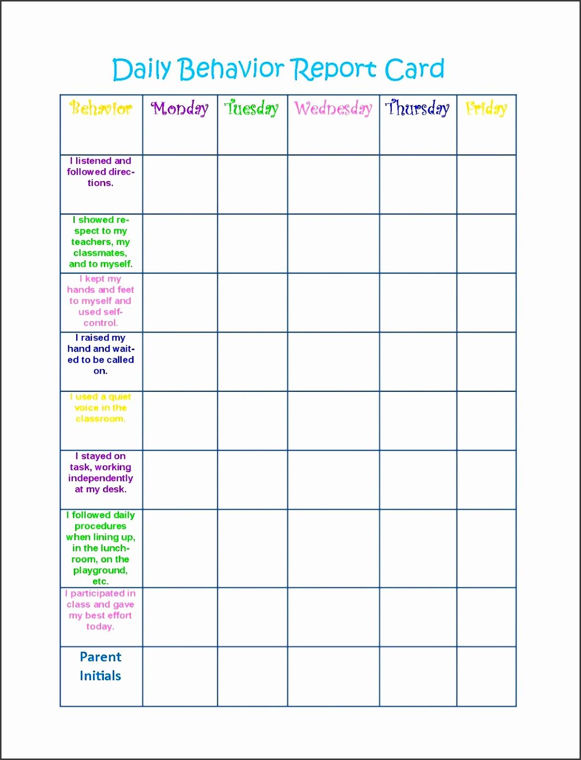 behaviour charts 2016