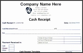 Download Petty Cash Receipt Template