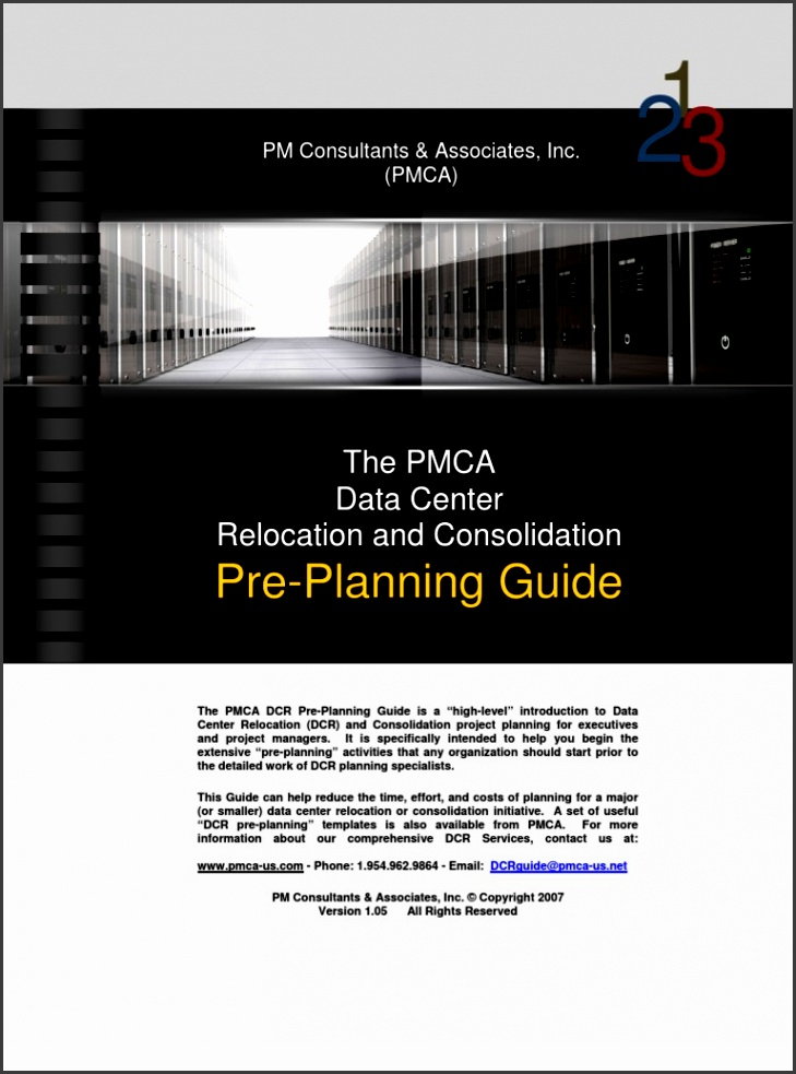 PMCA Data Center Relocation DCR Pre Planning Guide Data Center