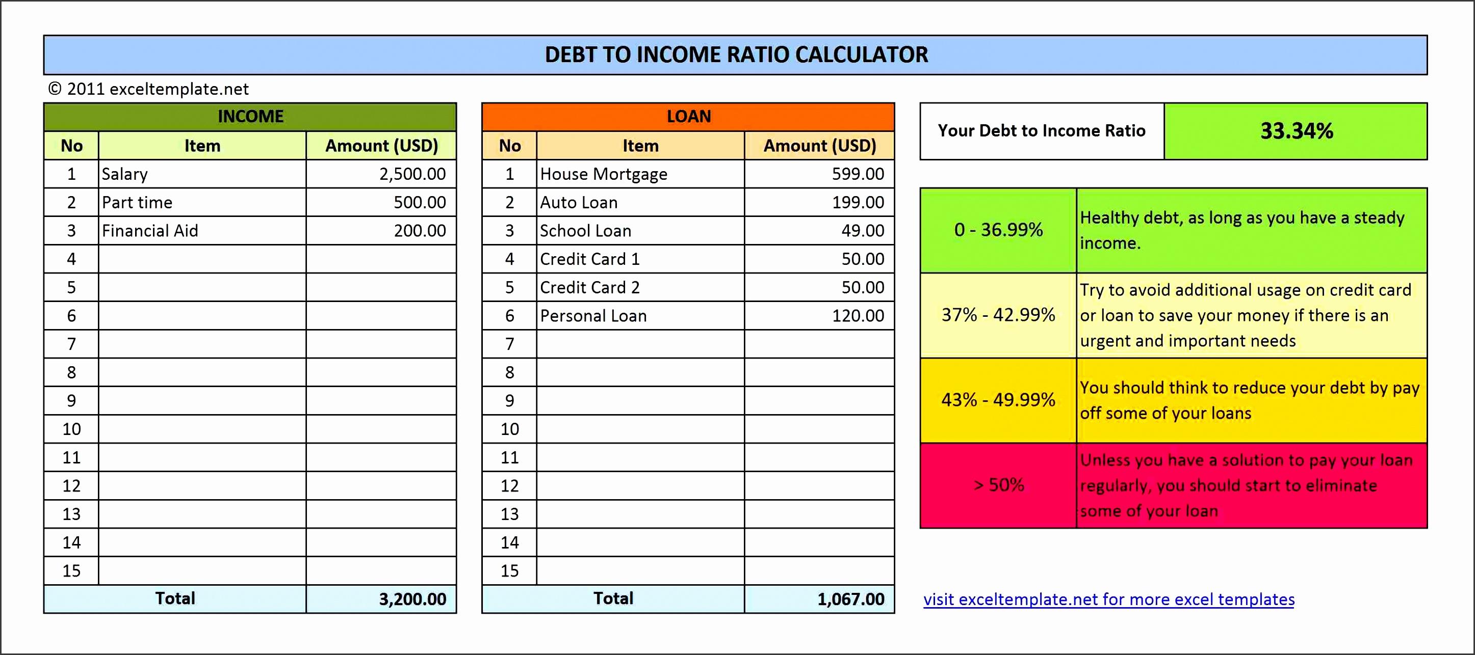 debt to income ratio calculator v1 0