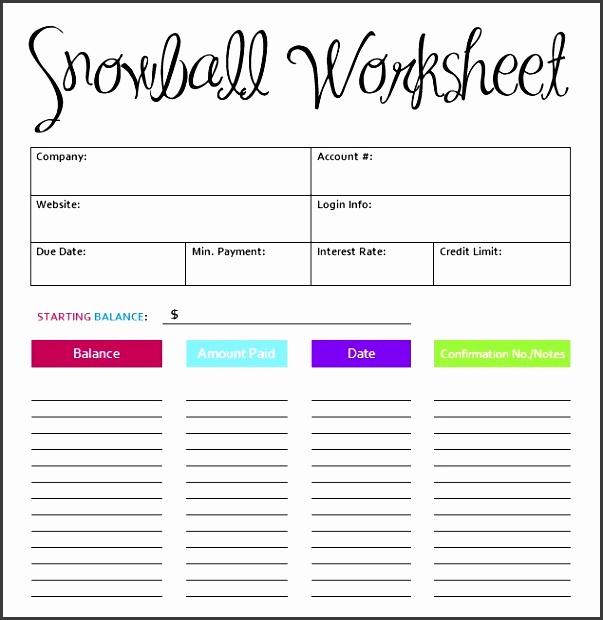 7 Debt Snowball Excel Template - SampleTemplatess ...