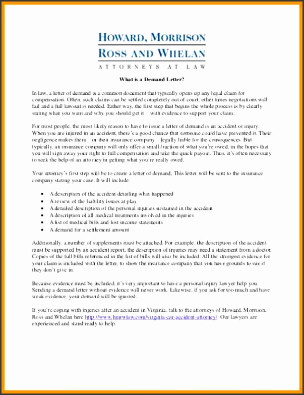Demand Letter Template For Personal Injury 7