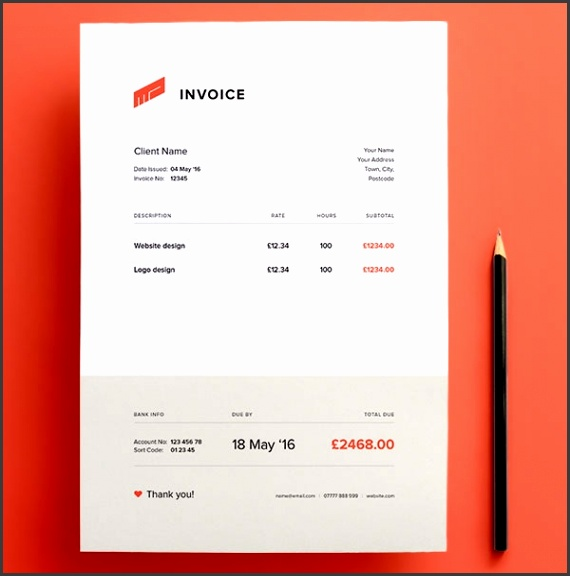 Top 10 Best Free Professional Invoice Template Designs In Ai & Psd Design Invoice Template