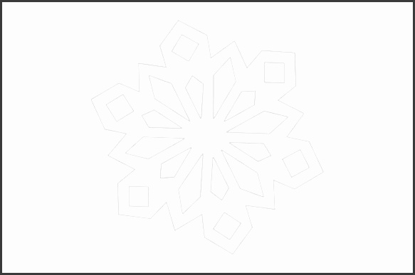 Print out our diamond snowflake template design