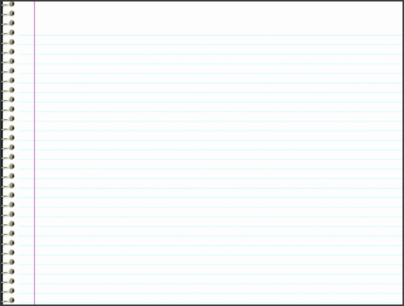 Powerpoint Notebook Paper Template