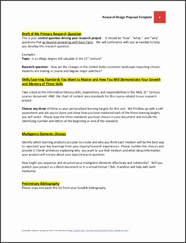 2 Research Design Proposal Template