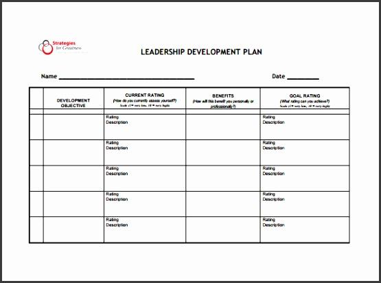 Leadership Development Plan Sample PDF Template Free Download