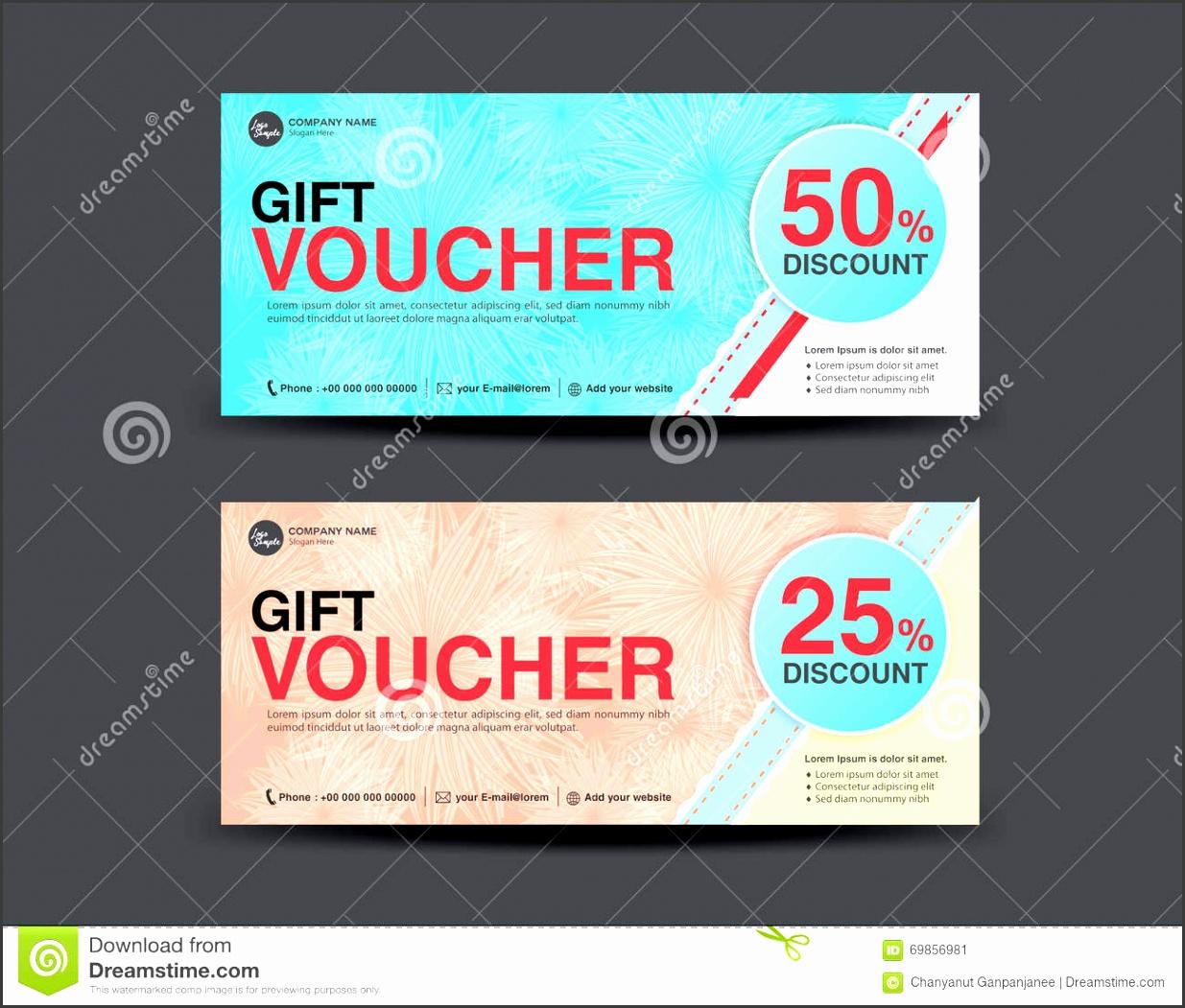 Discount Voucher template coupon design ticket discount