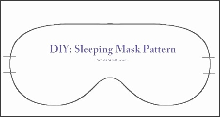 sleep mask printable template Sewing projects Pinterest