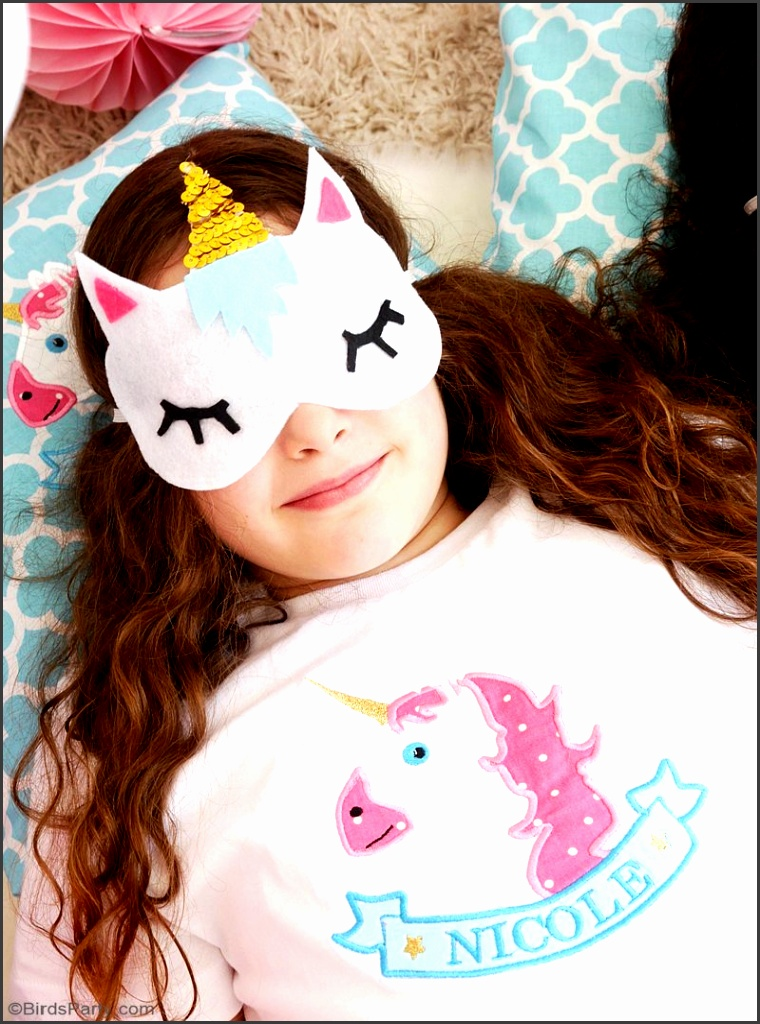 No Sew DIY Unicorn Sleeping Masks with Free Template learn to craft these cute