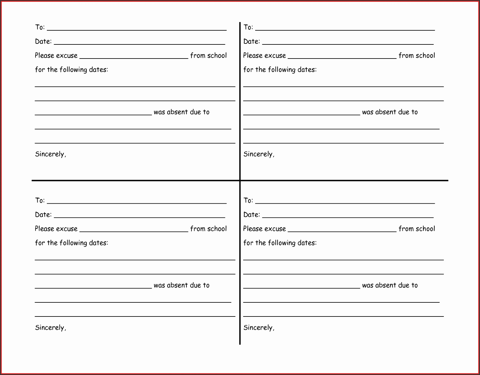 free fake doctors note template