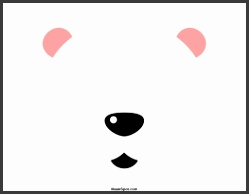 Polar Bear Mask · Reindeer Mask Template