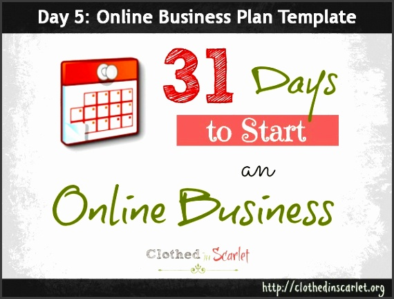 Day 5 line Business Plan Template