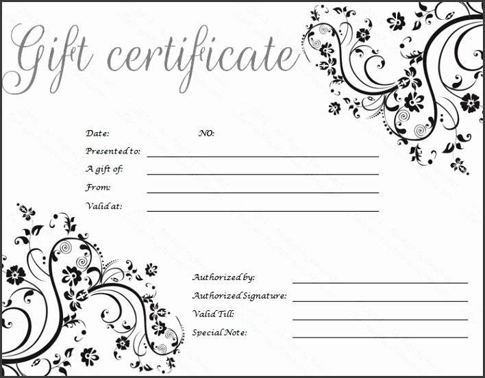 Black Art Gift Certificate Template