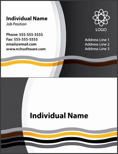 Download · Waves business card template