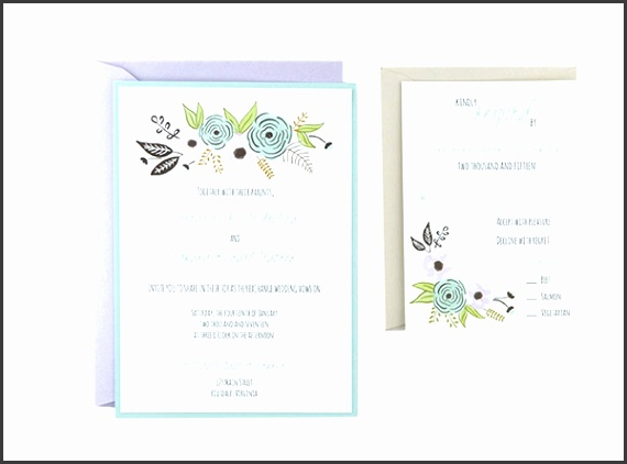 "Watercolor Wave Response 4 1 8"" x 5 1 2"" Free Wedding Invitation Template"