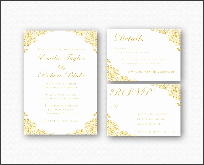Elegant Wedding Invitation Templates: 8 Downloadable Wedding Invitation Templates