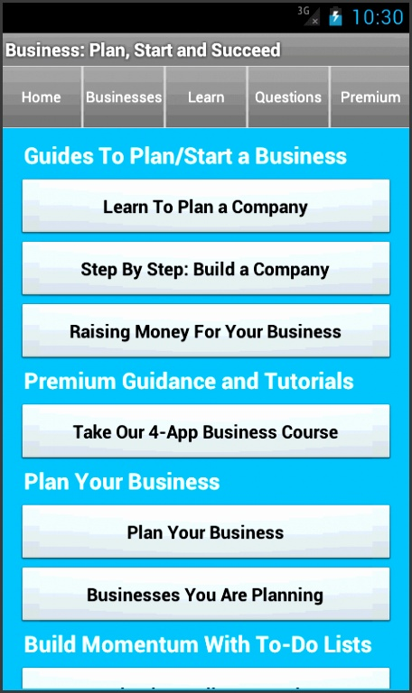 Business Plan & Start Startup screenshot