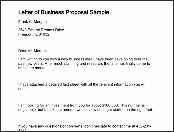 letter of business proposal sample 131 0