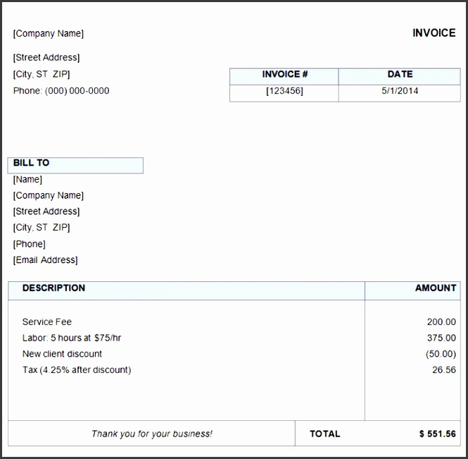 Free Easy Invoice Template 27 Free Basic Invoice Templates Free Premium Templates