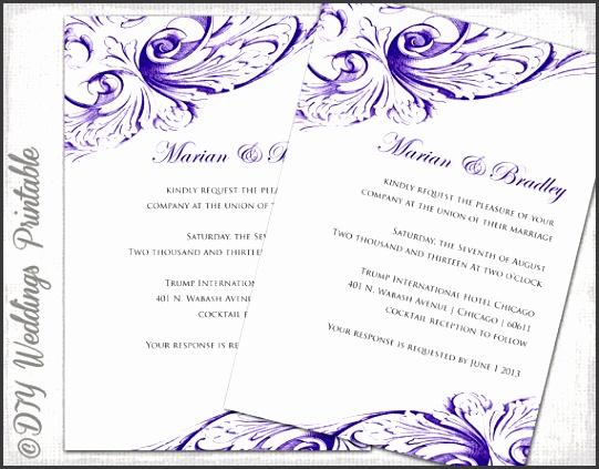 free wedding invitation templates microsoft word