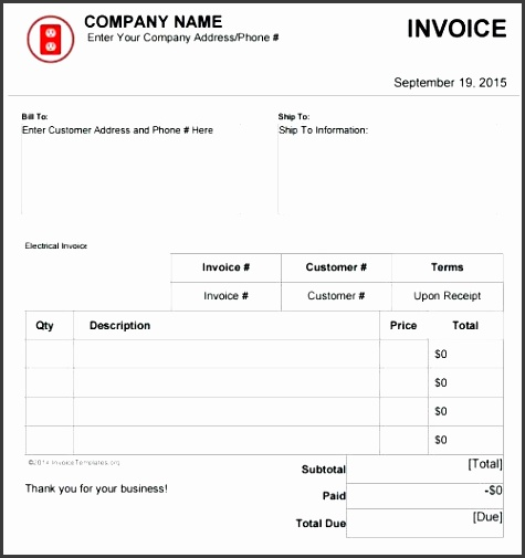 invoice template software electrical invoice template software receipt format software