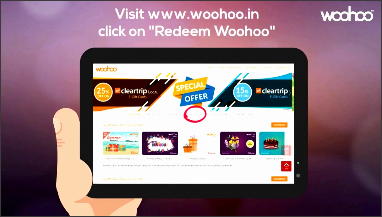 How to Redeem Your Woohoo e Gift and Gift Card