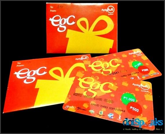 Ayala Malls Electronic Gift Certificate