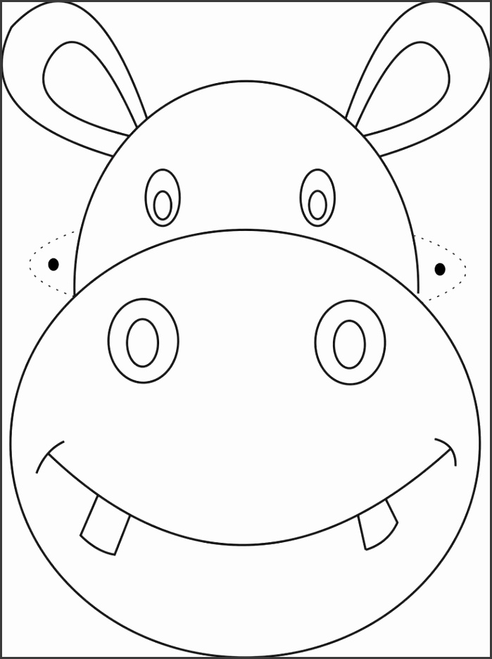 Adults Color Pages Free Printable Elephant Masks