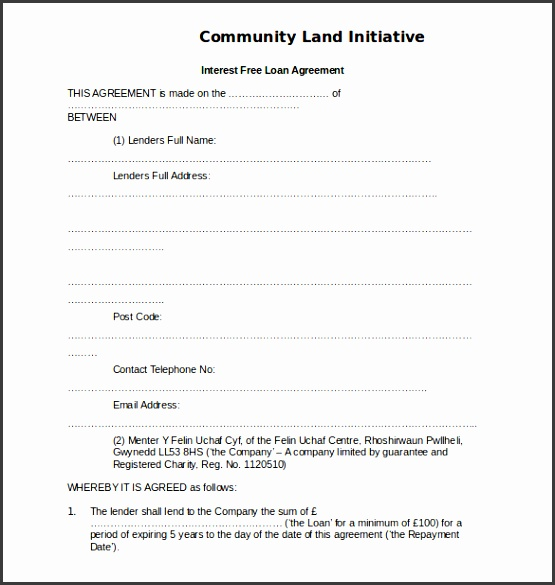 free loan agreement form template 10 loan agreement templates free sample example format ideas