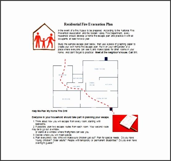Home Emergency Evacuation Plan Inspirational Evacuation Plan Template 18 Free Word Pdf Documents Download