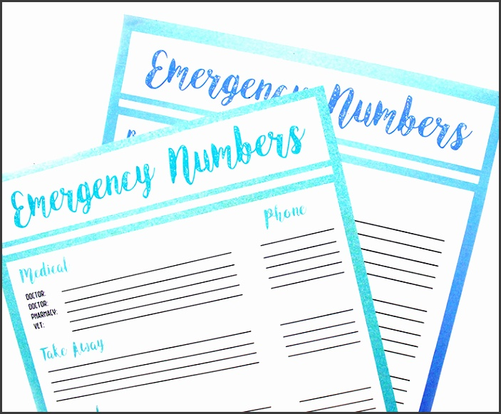 Contact Lists Printables
