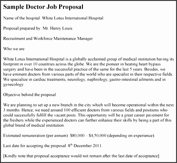 Doctor Job Proposal