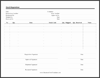 Stock Requisition
