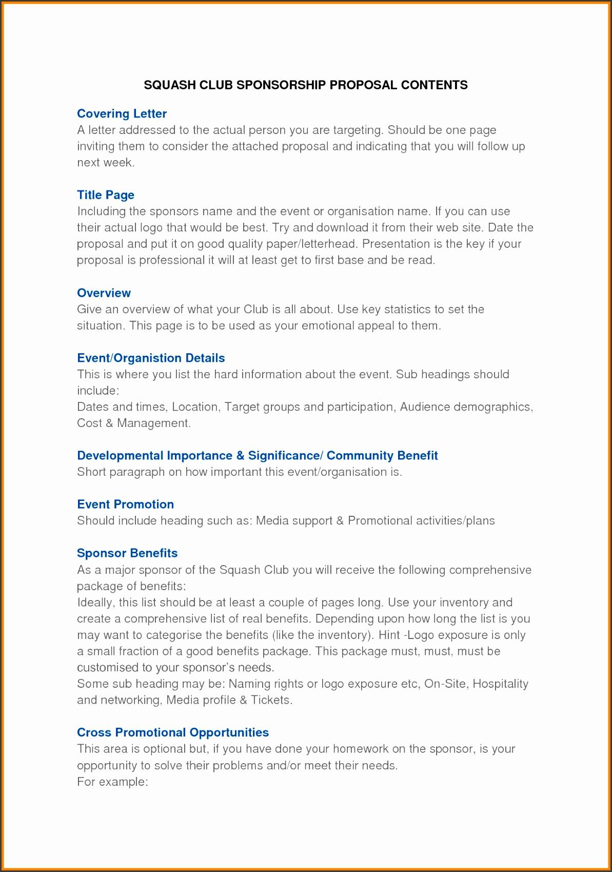 8 event proposal sample letter