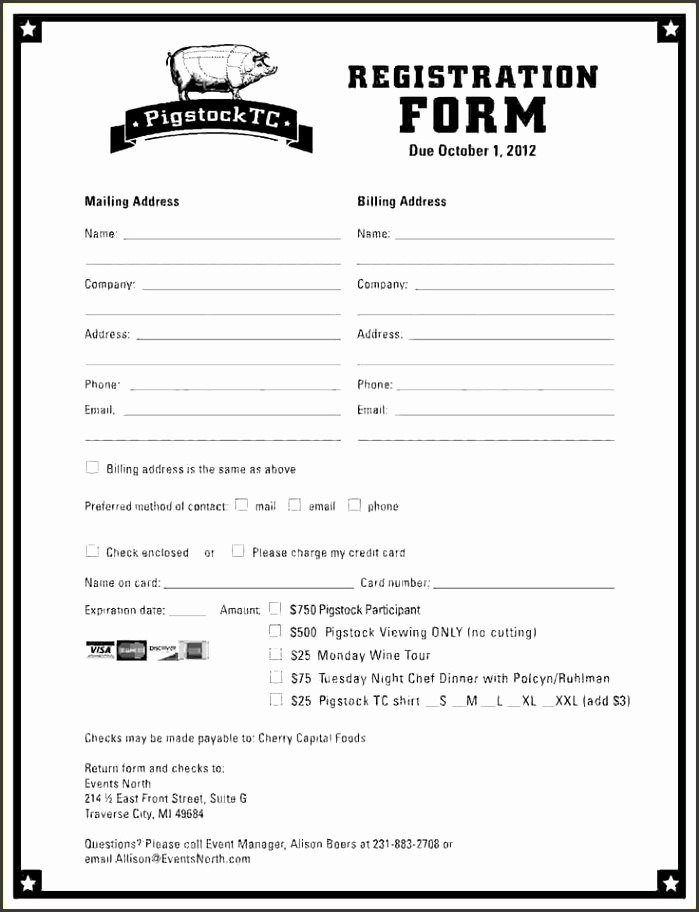 10 event registration form template microsoft word