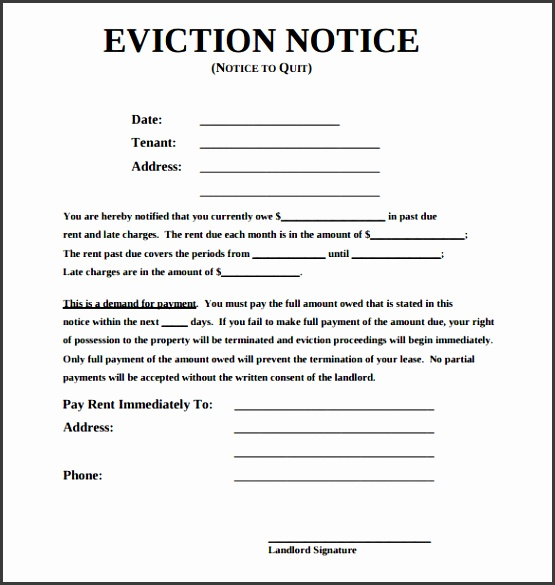 eviction notice template word sample eviction notice template 37 free documents in pdf word eviction notice form JqAUFL
