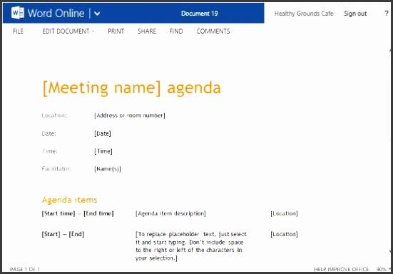agenda template 5