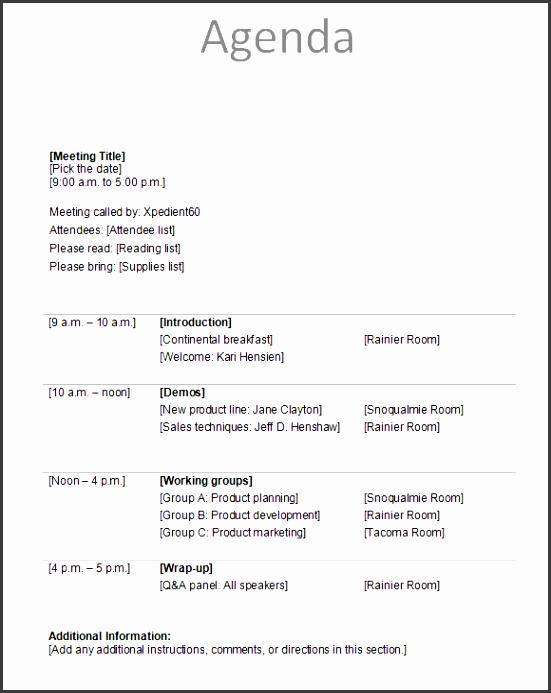 uncategorized free printable meeting agenda forms