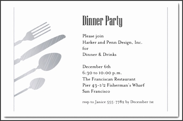 sample dinner party invitations dinner party invitation wording marialonghi templates