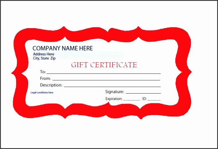 Printable Gift Certificate Template 37