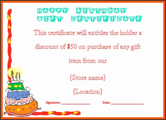 voucher example birthday t certificate voucher template 5